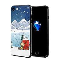 iPhone7 / 8ケーススヌーピーとチャーリーブラウンのクリスマスiPhone7とiPhone8用の完全保護スクラッチ防止カバーケース