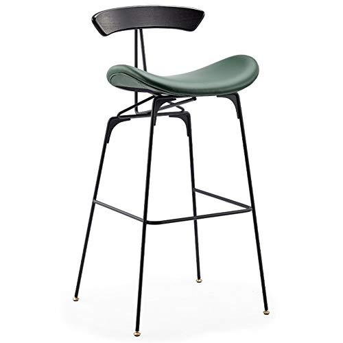 Sugewanjbd moderne barkruk van kunstleer met hoge ergomatik beensteun zwart metaal voor kantoor keuken balkon bar restaurant cafe