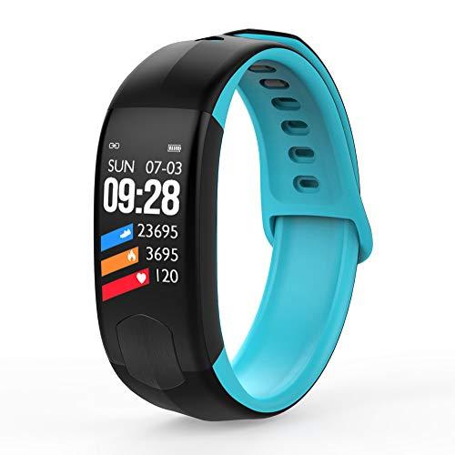 Kleur intelligente armband 1,08 inch scherm ondersteuning IP67 waterdicht inbouw-tracker meer sporten bericht melding hartslagbewaking activiteit, blauw