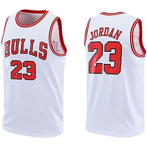 YCQQ Ropa Jersey Men's, Chicago Bulls # 23 Michael Jordan Jersey de Jersey Bulls Masculino Campeón de la NBA Vintage, Suelto, cómodo y Apto para Deportes.(Size:M,Color:G1)