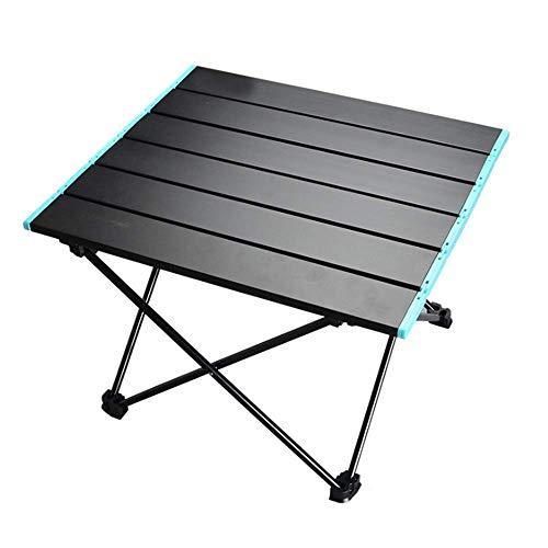 ZhiCheng Mesa de camping portátil, plegable, de aleación de aluminio, con bolsa de almacenamiento, apta para exteriores, camping, picnic, barbacoa, playa, pesca (grande)
