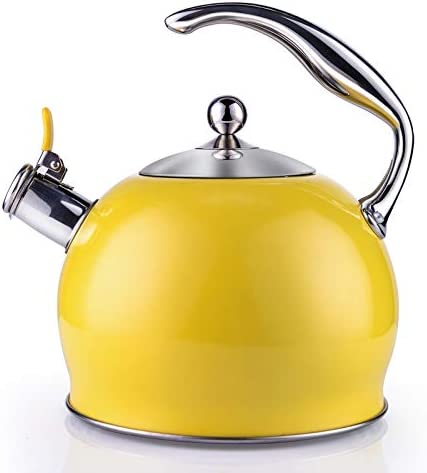 Sotya Tea Kettle Best 3 Quart induction Modern Stainless Steel Surgical Whistling Teapot Tea product image