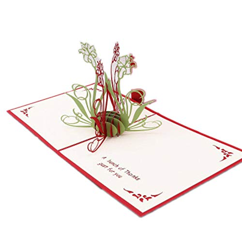Orchid 3D Pop Up Cards for Mother's Day, Father's Day, Thanksgiving Day, Easter, Christmas and Teachers' Day, Birthday Cards for Women and Kids, Beautifully Anniversary Card for Couple (C)