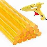 Hair Extensions Keratin Glue Sticks Professional Hair Adhesive Keratin Glue Sticks Hot Melt Glue Stick Hair Adhesive Sticks Dent Puller Glue Sticks(16 Pcs, Yellow)