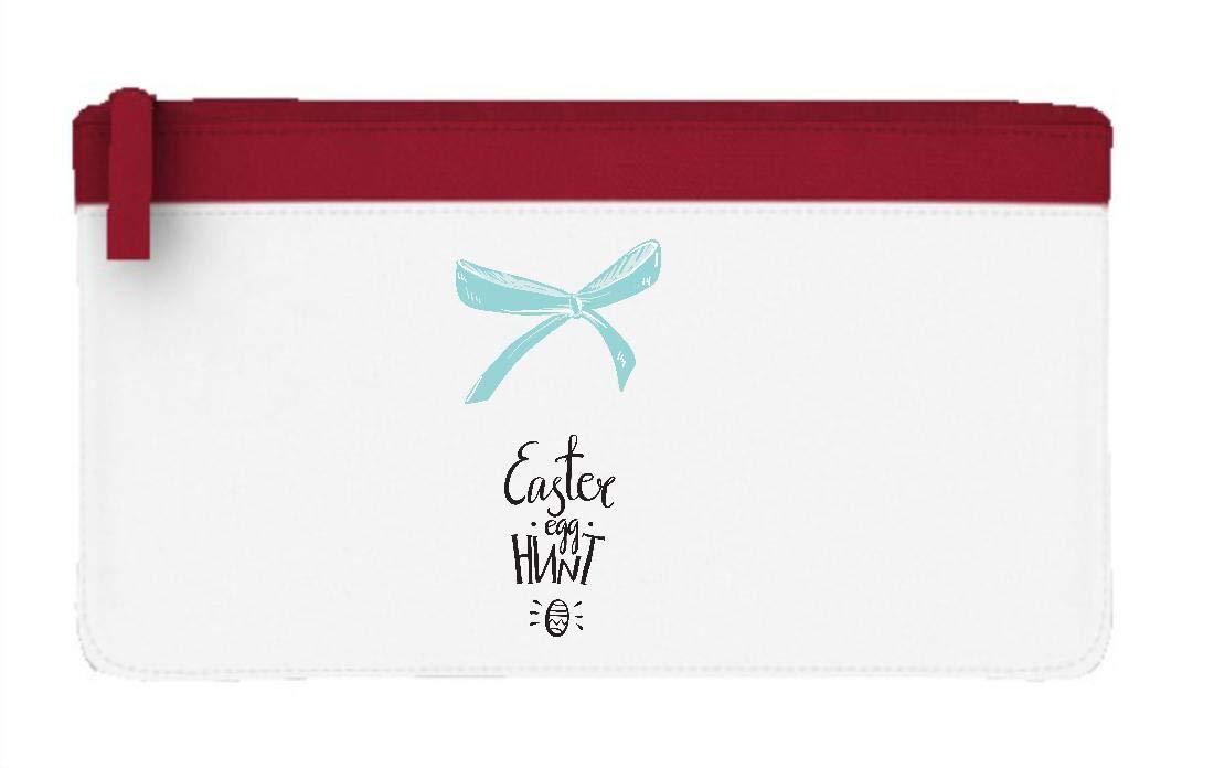 Estuche para lápices estilo cancha de huevos de Pascua con seis lazos estilo 75 plano, color rosso talla única: Amazon.es: Oficina y papelería