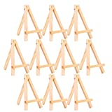 Hakka Lot de 10 mini chevalets en bois pour cadre photo - Support de table - Petit chevalet pour esquisse et peinture