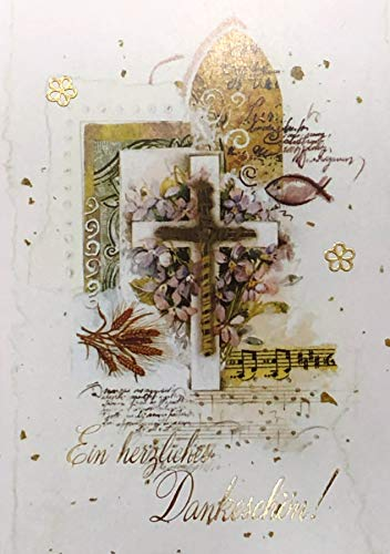 Bedankkaarten confirmatie jongen meisje met tekst binnenin motief kruis 10 vouwkaarten DIN A6 met witte enveloppen set confirmatiekaarten bedankkaarten bedankkaarten kaarten envelop bedankt zeggen K230