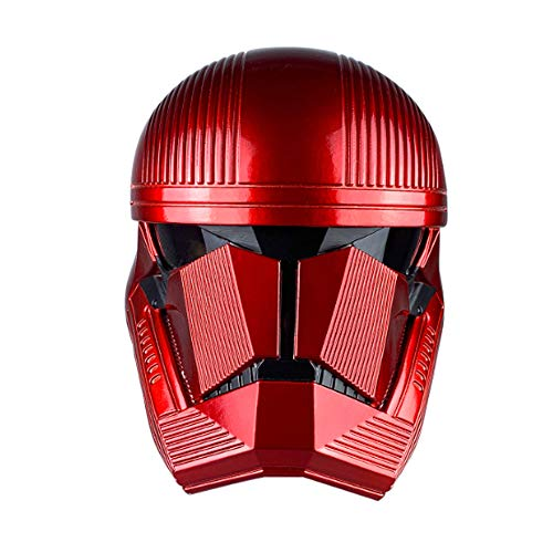 BIRDEU Sith Trooper Helm Red Trooper Maske SW 9 The Rise of Skywalker Cosplay Kostüm Replik für Erwachsene Herren Halloween Kleidung Merchandise
