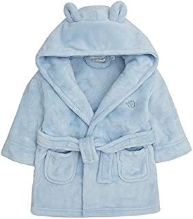 Bamu Baby Town Boys Girls Unisex Soft Plush Fleece Hooded Bath Robe Dressing Gown Sizes 6-12 12-18 18-24 Month