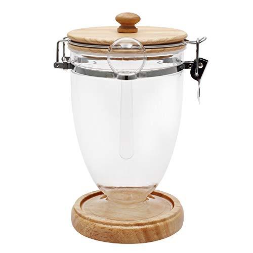 Große Kapazität Versiegelungsglas Kaffee Bohnen Siegelglas Milch Pulver Box Lebensmittel Transparent Glas Große Tee Vorratsdose Holzdeckel