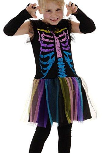Folat 61403 Costume de Squelette Arc-en-Ciel pour Fille