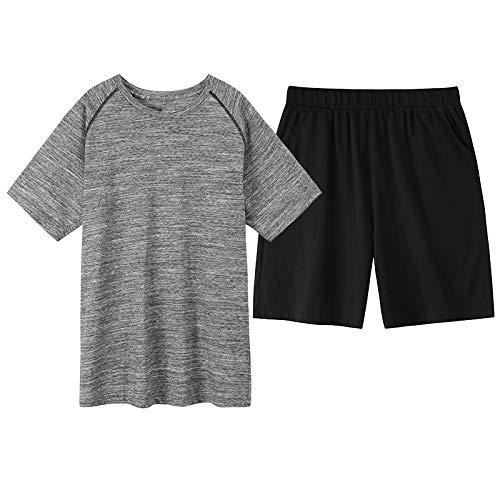 NOBRAND Pijamas - Pantalones cortos de verano para hombre, de manga corta, sección fina, casual, de algodón, para servicio en el hogar