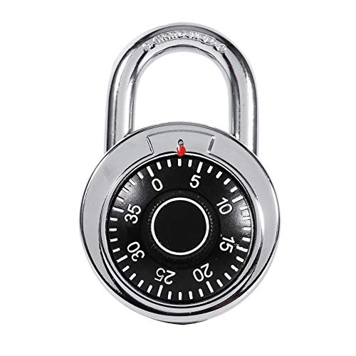 Coded Lock - Rotary Padlock Digit Combination Locker Lock Safe Round Dial Number Luggage Suitcase Security