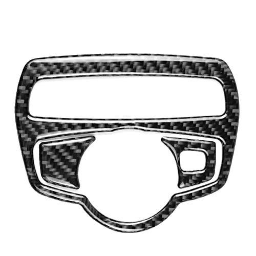 TEBI Accesorios de decoración de coche Fibra de carbono interruptor marco cubierta TRIM car styling etiqueta engomada
