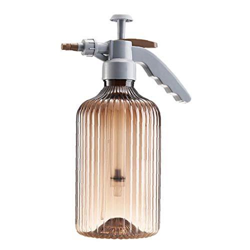 Nicedier Botella de riego del jardín Planta de riego pulverizador de gatillo Aerosol de la Niebla Botella Manual para el jardín Flor de la Planta de Amber Brown Herramientas de jardín