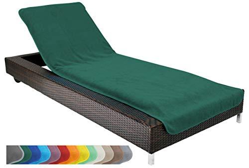 Brandsseller beschermhoes voor tuinligstoel, strandstoel, badstof hoes 100% katoen - ca. 75x200 cm