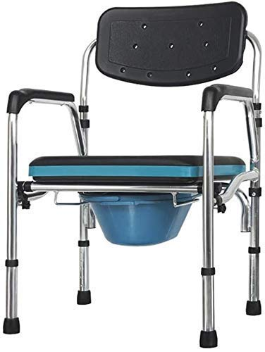 Einrichtungsgegenstände Multifunktions-Haushalts-Toilettensitz Aluminiumlegierung Mobiler Toilettensitz Nachttisch Kommode Mutterschaftstoilettenstuhl Höhe und Breite einstellbar 93 (Farbe: Schwarz