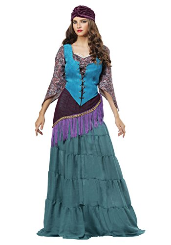 Fabulous Fortune Teller Gypsy Womens Plus Size Costume 1X-3X 1X