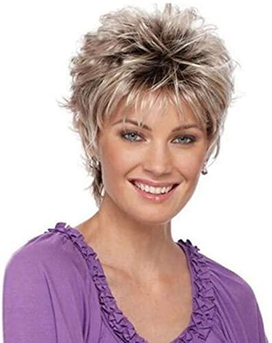 Peluca de pelo corto negro para mujer, de fibra sintética, resistente al calor, de alta calidad, color negro