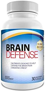 Dr.Colbert Formulated Brain Defense Supplement - 30 Day Supply - Includes All Natural Concentrated Turmeric, Whole-fruit Pomegranate and Pterostilbene