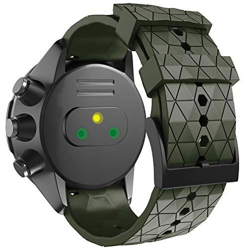 ANBEST Cinturino Compatibile con Suunto 9 Baro, Cinturini di Ricambio da 24mm Cinturino in Silicone Morbido per Suunto 7 Suunto 9 Suunto D5 Suunto Spartan Sport Wrist HR Smart Watch