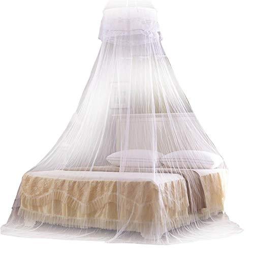 Demarkt klamboe reis muggennet bed tweepersoonsbed eenpersoonsbed baldakijn insectennet voor thuis Weiß 60 * 260 * 1100cm
