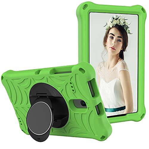 ZHIWEI Tablet PC Bag per Samsung Galaxy Tab A 8.0 (2018) SM-T387 Tablet Case per Bambini Prova di Protezione Antiurto con Supporto Rotante Leggero e Resistente, Tracolla (Color : Green)
