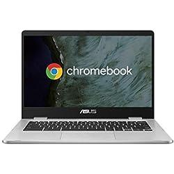 ASUS Chromebook C423NA-EC0314, Notebook in alluminio con Monitor 14´´ FHD Touchscreen Glossy, Intel Pentium N4200, RAM 4GB LPDDR4, 64G eMMC, Sistema operativo Chrome, Argento [CB]