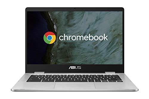 "ASUS Chromebook C423NA-EC0314, Notebook in alluminio con Monitor 14"" FHD Touchscreen Glossy, Intel Pentium N4200, RAM 4GB LPDDR4, 64G eMMC, Sistema operativo Chrome, Argento"