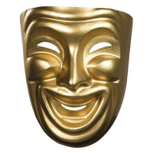 Disguise Costumes Gold Comedy Mask, Adult