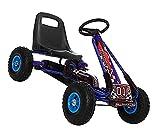 Go Kart Tretauto Rally Special Blau Cart m. Luftreifen 3 - 7 Jahre
