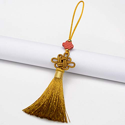ZYHYCH 5/10/20 Pcs High Quality New Style Red Chinese Knots Tassels,DIY Jewelry Curtain Bag Decorative Accessories Pendant Craft Tassels,Loess Color,10pcs