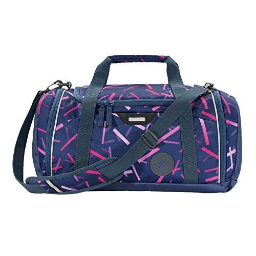 """Coocazoo Sporttasche SporterPorter """"Cyber Pink"""", rosa, Nasswäschefach, Seitentasche, Schuhfach, Abnehmbarer, Verstellbarer Schultergurt, für Mädchen ab der 5. Klasse, 20 Liter"""