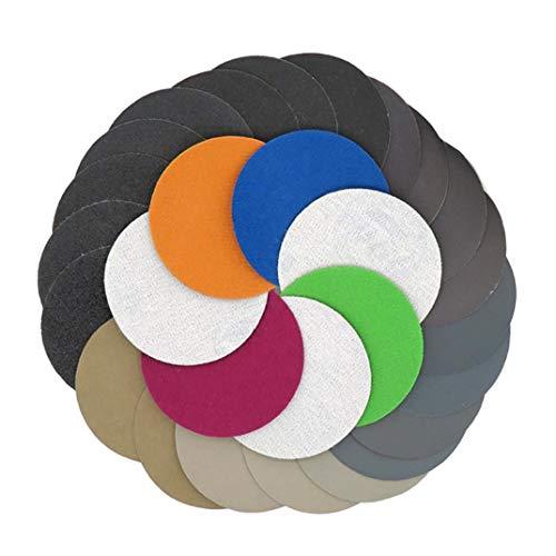 YONIK 耐水ペーパー サンドペーパー セット 丸型 75mm 紙やすり 鏡面磨き 水研ぎ (35枚各5枚 7種粒度 60 100 150 240 320 400 600)