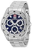 Invicta Pro Diver Swiss Made 33473 - Reloj de cuarzo para hombre, 45 mm, acero inoxidable, esfera azul, 33473