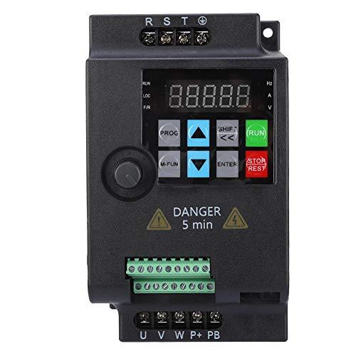 Mini Frequenzumrichter, 3 Phasen Ausgang Wechselstrom Drehzahlregler Frequency Converter VFD Drive Inverter für Motor 220V/ 380V 0.75/1.5/2.2KW(380VAC 0.75kW)