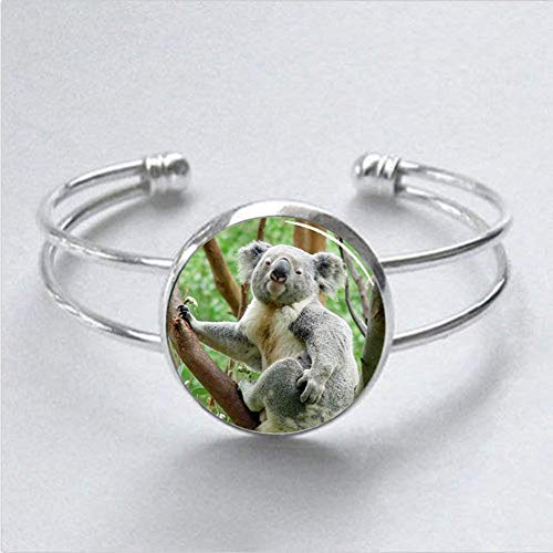 Regalos para Koala Bear Charm Pulsera Koala Bear Pulsera para Hombres para Ella para Él