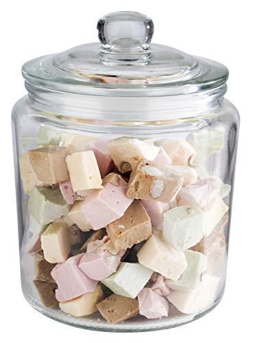 """APS Vorratsglas """"Classic"""" – Hochwertiger Glasbehälter zur Aufbewahrung mit 0,9 Liter Fassungsvermögen – Ihre Ware bleibt frisch durch den Glasdeckel mit Dichtung, Aufbewahrungsbehälter"""