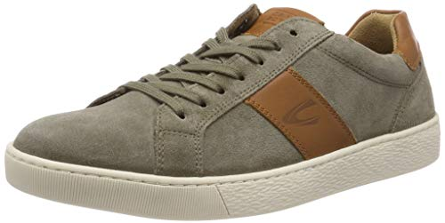 camel active Herren Tonic Sneaker, Mehrfarbig (salvia/Nature 04), 46 EU