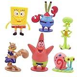 6PCS Mini Juego de Figuras, Caricatura Cake Topper, Fiesta de Cumpleaños DIY Decoración Suministros, decoración de tartas para niños, bonita caricatura, fiesta de cumpleaños