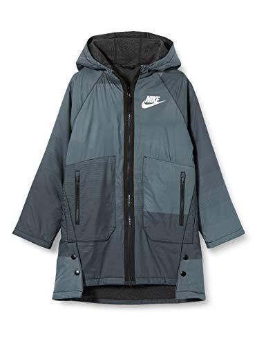 Nike Kinder U NSW Reversible OTRWR Parka Sport Jacket, Black/Black/(White), S