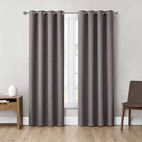 """Eclipse 52"""" x 84"""" Absolute Zero Curtains, 2-Pack (Max Grey)"""