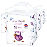 Natural Blossom Pull Up Pants Baby Diapers Size 5 (26-37lbs) 88 Count, Super Soft Hypoallergenic Ultra-Slim Disposable Diaper for Sensitive Skin