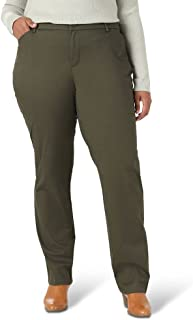 Lee womens Plus Size Wrinkle Free Relaxed Fit Straight Leg Pant Pants