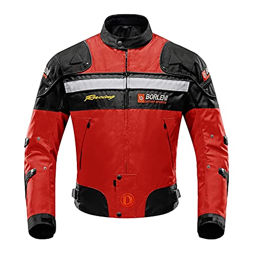 BORLENI Chaqueta de moto a prueba de viento motocicleta armadura de equipo de protección otoño invierno verano para hombre de toda estaciòn XXL