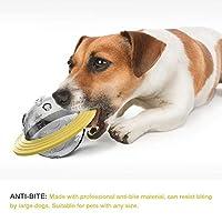 犬 おやつボール 犬 玩具ボール 噛むおもちゃ 早食い防止 ラバー製 知育玩具 餌入れ ボール 運動不足やストレス解消 ダ イエット レーニングなど 犬遊び用(165 x165 x 100mm )