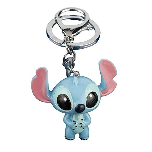 WZLDP Lilo & Stitch Portachiavi Simpatico Cartone Animato Cartoon Cartoon Auto Porta Anello Ciondolo Ciondolo Creativo Piccolo Regalo Portachiavi (Color : B)