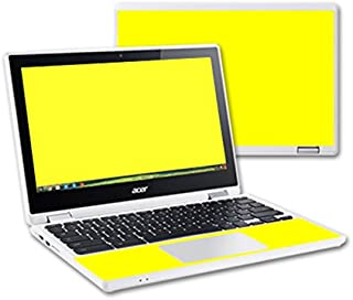 MightySkins Skin Compatible with Acer Chromebook R11 - Solid Yellow | Protective, Durable, and Unique Vinyl Decal wrap Cover | Easy to Apply, Remove, and Change Styles | Made in The USA
