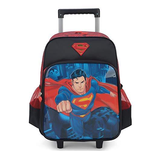 Mochilete Infantil Superman Luxcel Masculino - Preto e Vermelho