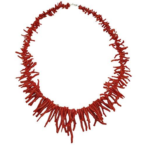 Collana frange di corallo rosso naturale